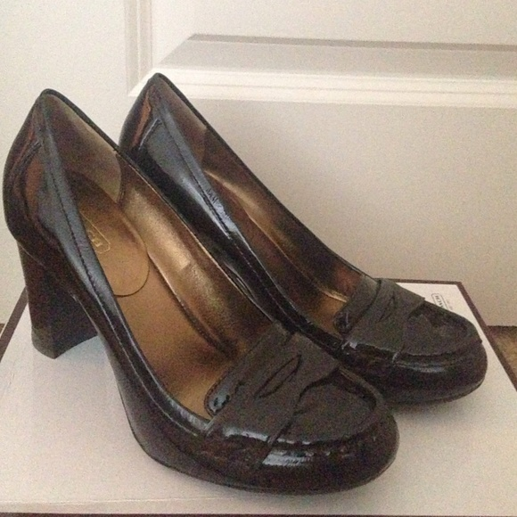 with paypal sale online clearance new arrival Coach Patent Leather Loafer Pumps 94d46d