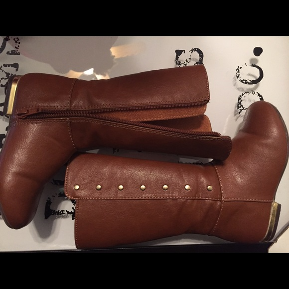 Gymboree Other - Gymboree toddlers cognac knee boots size 9 f13674526a5c