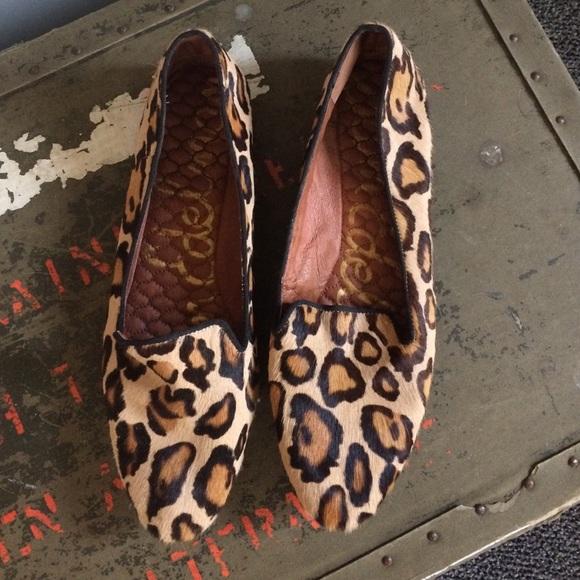 d73f52625 Sam Edelman loafers in a leopard print calf hair! M 55e0ebb9eaf0302c94000f68