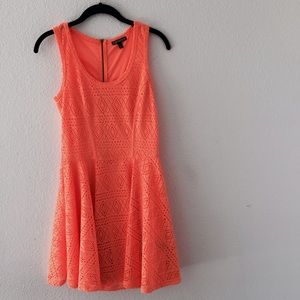 Express Dresses & Skirts - Express Neon Orange Dress 🎃