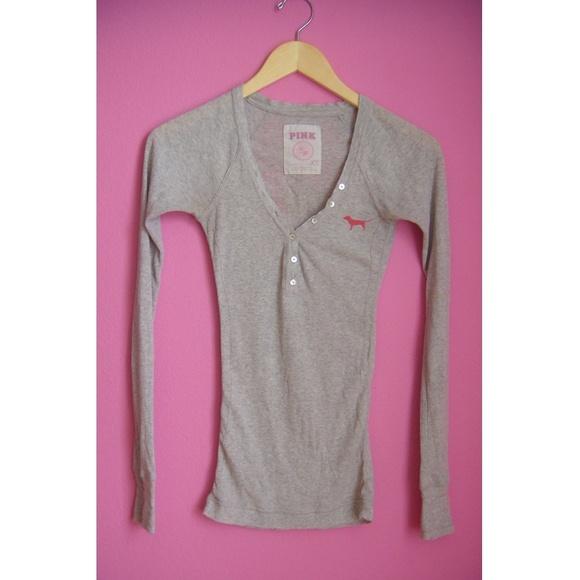 Victoria's Secret - VS PINK grey long sleeve tee from Noella's ...