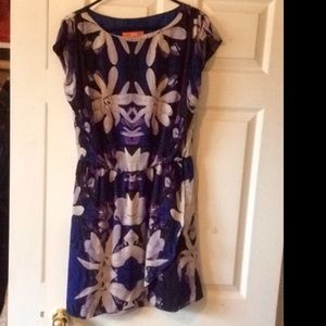 Very nice floral party dress. Purple and blue