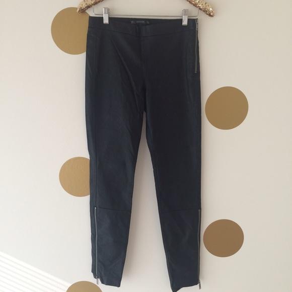 aa448239 ZARA Leather Ankle Zip Leggings. M_55e1067d522b45da44001721. Other Pants ...