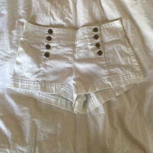 Forever 21 Pants - White nautical inspired shorts