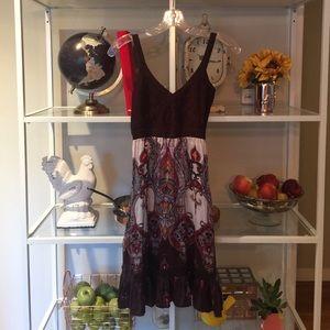 Silk summer-to-fall dress