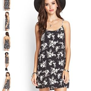 New Forever 21 Spotted Floral Cami Dress - Small