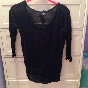 F21 black sweater