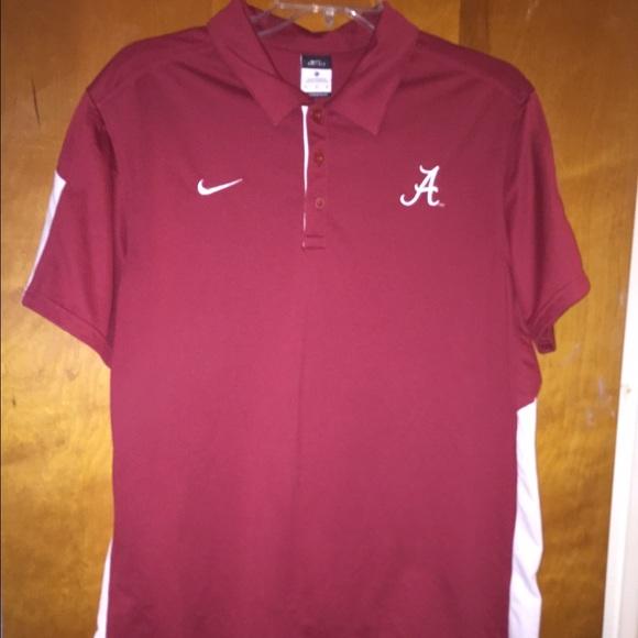 Nike shirts men alabama crimson tide polo shirt xl for Alabama crimson tide polo shirts