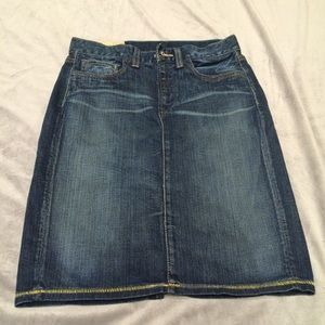 Organic cotton jean skirt
