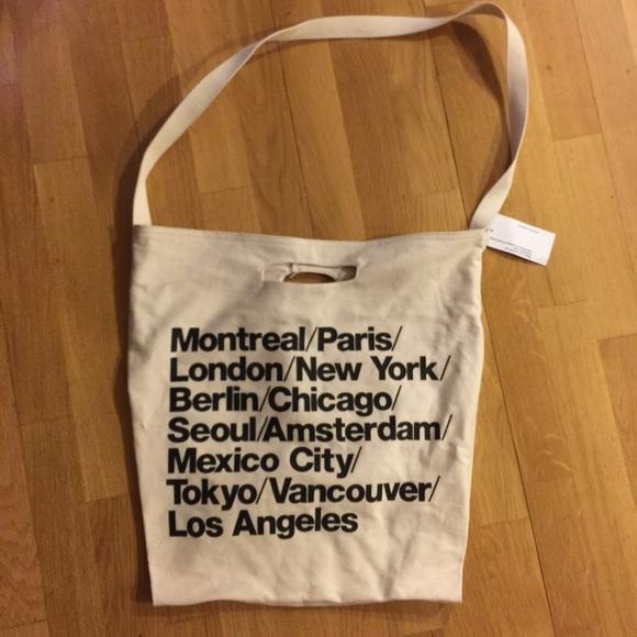 74b5bb6c0b9 American Apparel Handbags - White/Tan American Apparel Cities Bag with tag