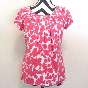 Pink & White Floral Top