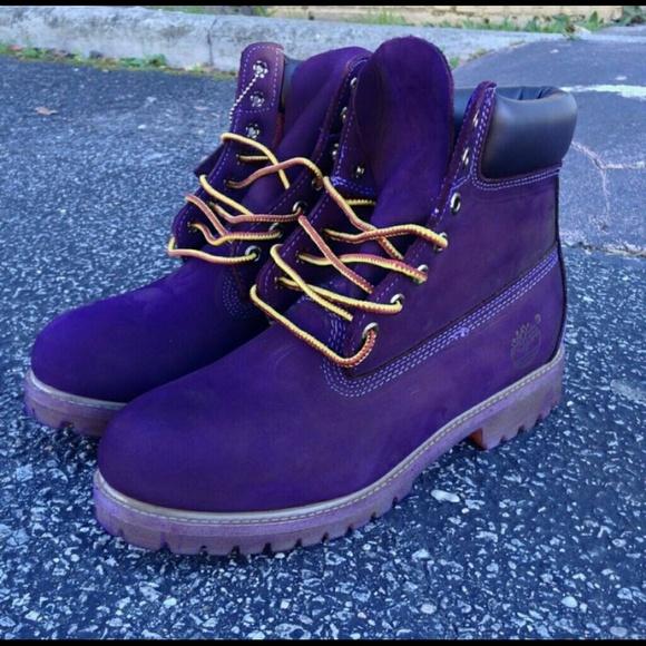 8ac19e57141 Timberland Shoes - Custom Purple Timberlands