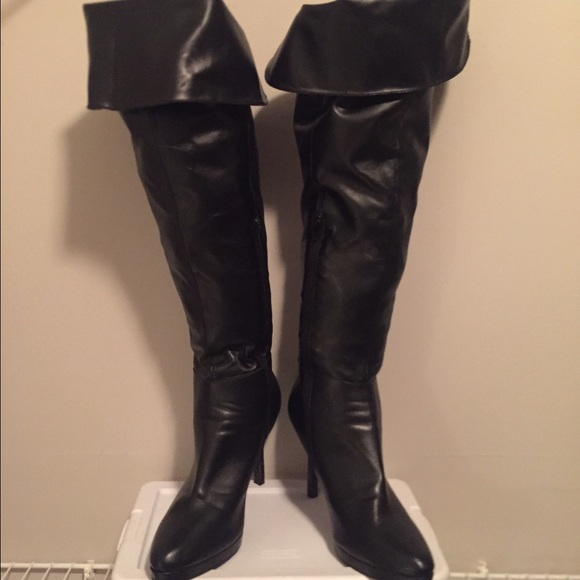 86 shoes knee high fitted boots from theresa s