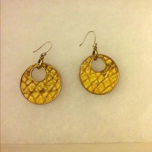 Cute yellow earrings