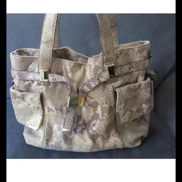 3d3ed0792588 MICHAEL Michael Kors Bags | Auth Michael Kors Beverly Python Satchel ...