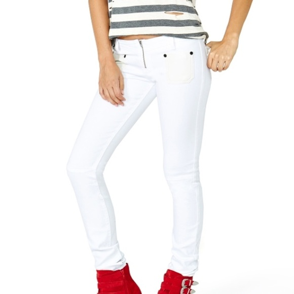 74% off Free People Denim - One Teaspoon White Out Awesome Skinny ...