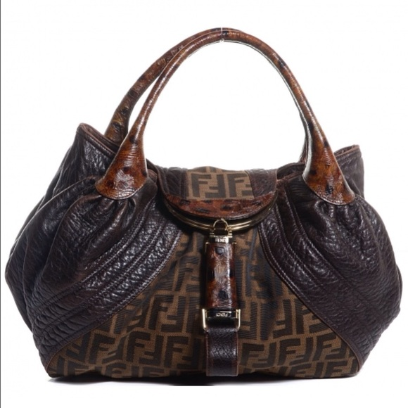 ac7be1e1c01e FENDI Bags | Zucca Nappa Tortoise Spy Bag Tobacco | Poshmark