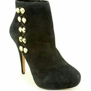 Vince Camuto Black Suede Ankle Boot