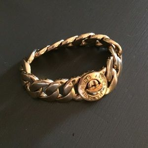 Marc Jacobs  gold turnkey lock bracelet