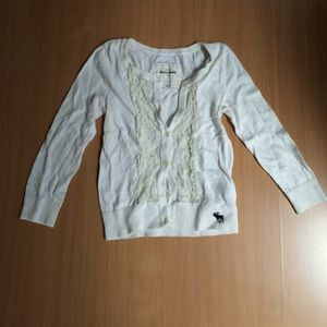 Abercrombie kids button cardigan L