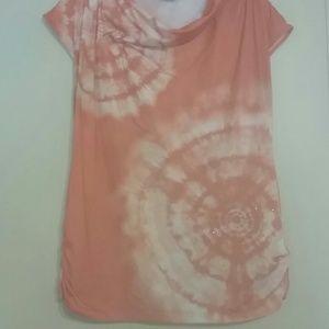 Tops - Orange dressy shirt