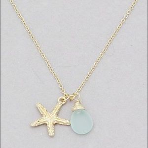 Jewelry - 🍉Sea Glass Starfish Necklace