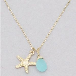 Jewelry - 🍉 Sea Glass Starfish Necklace