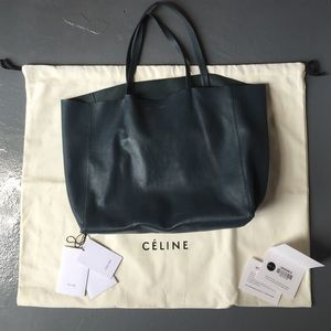 55% off Celine Handbags - Celine lambskin leather Cabas tote bag ...