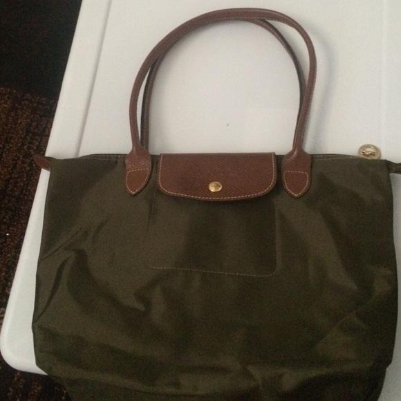 Longchamp Handbags - Longchamp Le Pliage Small tote bag (Olive green) 91e363e773