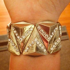 Charming Charlie Jewelry - 🔸Gold Jeweled Cuff🔸