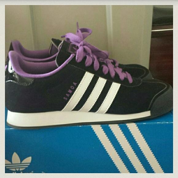 adidas samoa black & purple womens shoes