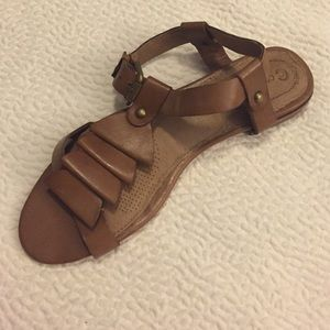 Corso Como brown leather flat sandals
