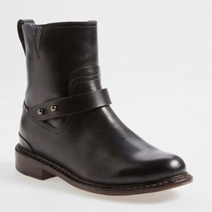 Rag & Bone Black Leather Moto Boots