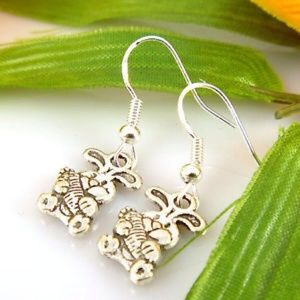 925 stamped sterling silver earring