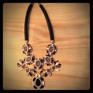 Cara crystal and resin statement necklace