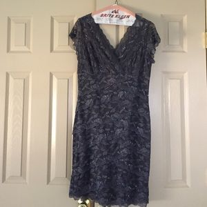 Marina Size12 Bedazzled Grey Above Knee Dress NWOT