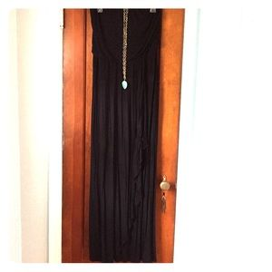 Mossimo Supply Co Dresses & Skirts - Strapless black jersey maxi