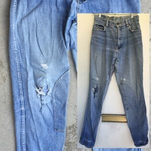 Distressed Miller's Equestrian Jeans