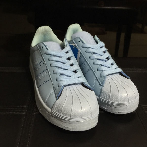 Adidas Superstar Supercolor Light Blue Shoes af74689cf4