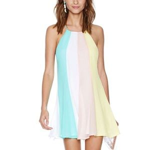 Colorful Pastel Sherbet Open Back Dress Tunic🍉