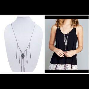 Jewelry - NWT drop fringe pendant necklace