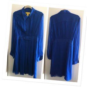 Catherine Malandrino Dresses & Skirts - Catherine Malandrino blue chiffon dress - EUC