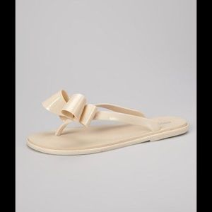 19dc487db0be Capelli Shoes - Big bow nude jelly capelli flip flop sandals