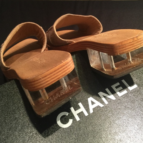 1d1b0beb3ea CHANEL Shoes - Chanel Geisha girl wood acrylic platform sandals
