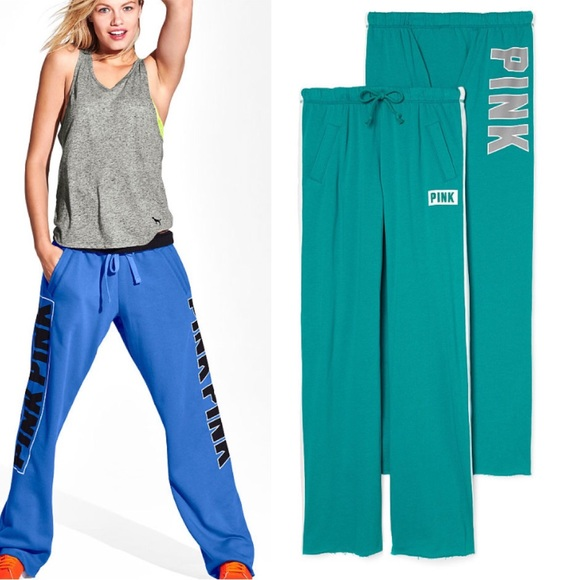 108dfa1b55 PINK Victoria's Secret Pants | Flash Salesmall Pink Boyfriend Teal ...