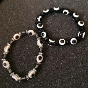 Evil eye stretch bracelets