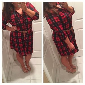 RESERVED Plaid tunic dress