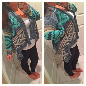 RESERVED Colorful Aztec sweater