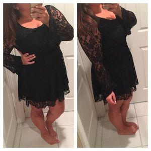 All lace black dress