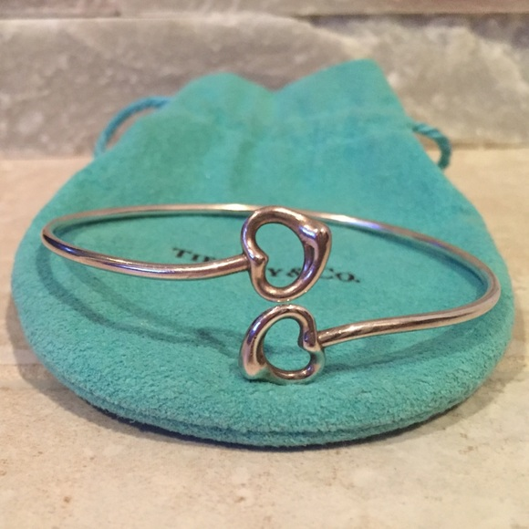 4101e0eb9 Tiffanys Elsa Peretti Double Open Heart Bangle. M_55e2511aea3f36f965007e86